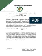 Informe conservacion de la energia mecanica 8