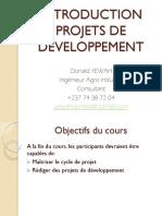 Module 0-Introduction au projet de Dev't