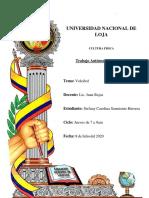 DEBER DE CULTURA FÍSICA 8 DE JULIO