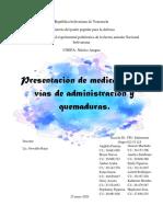 Presentación de medicamentos y vias de administrcion