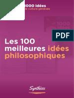 Les 100 meilleures idées philosophiques - Romain Treffel