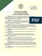 Mayoral Curfew Order Aug 2020