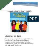 GUIA DIDACTICA ETICA Y VALORES 10 Y  11 CON PORTADA