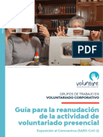 Guía Para La Reanudación de La Actividad de Voluntariado Presencial