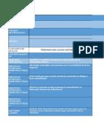 Matriz categorías y sistematización de entrevistas