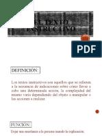 TEXTO INSTRUCTIVO Y DIALOGICO