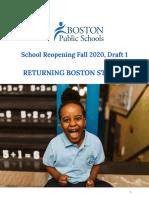 Boston Public Schools reopening plan