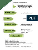 Teoria y Tecnica de la observacion de grupos M I U 1 3º año