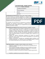 Acta de constitucion  Gestion de proyectos TI
