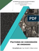 Factores de conversión de unidades