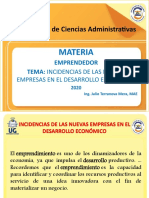 1.1.Incidencia de las nuevas empresas en el desarrollo económico (1)