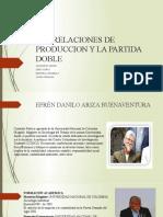 LAS RELACIONES DE PRODUCCION Y LA PARTIDA DOBLE