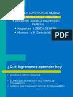 LOGICA SEMAN 4  EL PENSAMIENTO