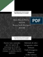 MATERIALES USADOS PARA NEUTRALIZAR LA ACIDEZ