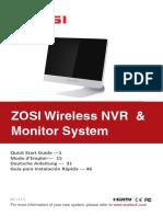 Zosi Wireless NVR & Monitor System