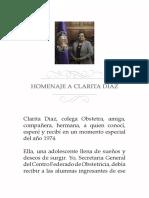 Homenaje a Clara Díaz Tinoco
