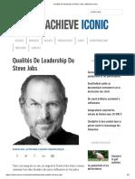 Qualités de leadership de Steve Jobs _ Atteindre Iconic