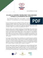 NOTA DE PRENSA N° 1 Lanzamiento Respira Perú