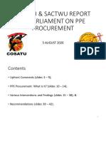 Cosatu Report on Ppe Procurement 05 08 2020