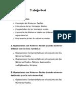 Trabajo final de Matematica (listado de temas)