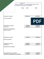 TALLER ESTADO DE SITUACION FINANCIERA