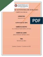 REPORTE DE OBRA (red de agua potable) - María Fernanda - 10
