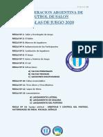 Reglamento de Futsal- CAFS 2020
