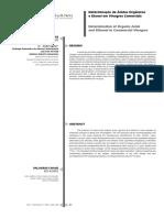 Determinación  de acidos y alcoholes en vinagres comerciales