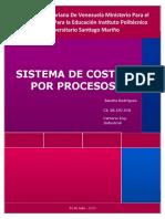 Sistema de costos por procesos evaluacion