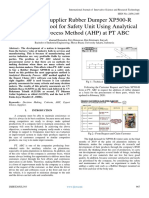 Analysis of Supplier Rubber Dumper XP500-R Selection as a Tool for Safety Unit Using Analytical Hierarchy Process Method (AHP) at PT ABC