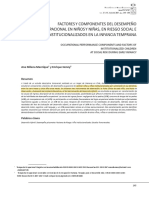 Factores y Componentes Del Desempeño Ocupacional en Niños y Niñas