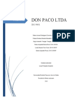 DON PACO LTDA, ISO 9001, ISO 14001