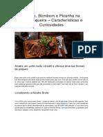 Alcatra, Bombom e Picanha Na Churrasqueira – Características