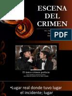 ESCENA DEL CRIMEN - CURSO DE MEDICINA LEGAL