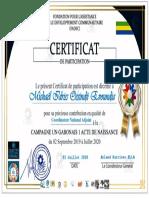 Certificat un gabonais
