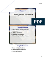 Chapter 04 Reading Floor Plans, Part 2 Floor Plan Dimensions