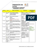2° AÑO  Itercer bimestre - CRONOGRAMA