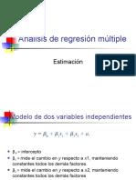 3 Análisis de regresión múltiple Estimación