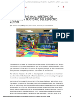 Terapia ocupacional, integración sensorial y trastorno del Espectro Autista