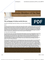 The pedagogy of urban media literacy   Academic Exchange Quarterly   Find Articles at BNET