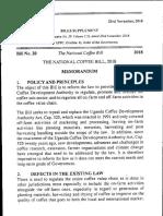 National Coffee Bill 2018