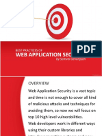 Best Practices of Web Application Security by Samvel Gevorgyan