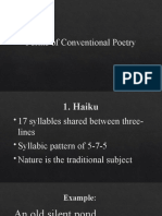 Forms of Conventional Poetry- CW