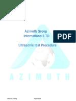 Ultrasonic Testing PROCEDURE