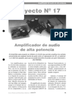 Amplificador de audio de alta potencia