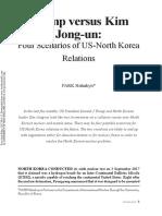 Trump versus Kim Jong-un - Four Scenarios of US - North Korea Relations