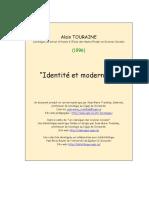 """Alain Touraine, """"Identité et modernité."""" (1996)"""