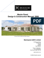 Maxim Panel Design Construction Manual 2008