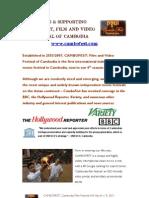 CAMBOFEST Cambodia Film Festival 4th Edition Sponsorship Info Packet