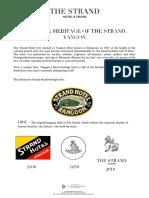 The Strand Hotel timeline - 2018